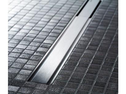 Geberit CleanLine60 Grila rigola pentru pardoseli subtiri, 30-90 cm, inox mat/contur negru