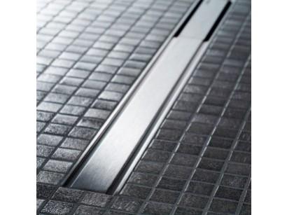 Geberit CleanLine60 Grila rigola pentru pardoseli subtiri, 30-130 cm, inox mat/contur negru