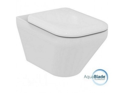 Ideal Standard Tonic II AquaBlade Vas WC suspendat cu capac soft-close, 36x56 cm