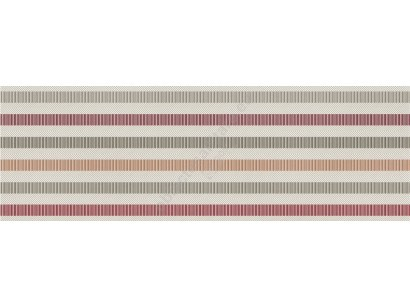 Marazzi Dressy D Stripe Red Decor 25x76 cm