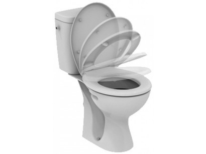 Vidima SevaFresh Set Vas WC monobloc 37x67 cm cu capac Soft-close si rezervor WC cu alimentare laterala