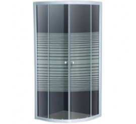 Belform Grid Cabina de dus semirotunda 90x90 cm, usa glisanta