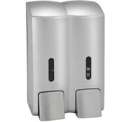Bemeta Hotel Dispenser dublu sapun lichid 600 ml, crom mat