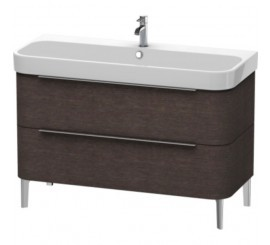 Duravit Happy D.2 Mobilier Vanity pe pardoseala, brushed dark oak furnir, 118x48xH57 cm