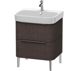 Duravit Happy D.2 Mobilier Vanity pe pardoseala, brushed dark oak furnir, 63x48xH57 cm