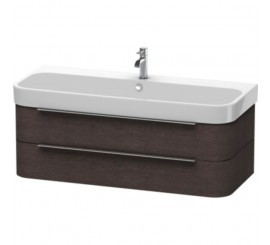 Duravit Happy D.2 Mobilier Vanity suspendat, brushed dark oak furnir, 118x48xH38 cm