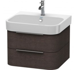 Duravit Happy D.2 Mobilier Vanity suspendat, brushed dark oak furnir, 63x48xH38 cm
