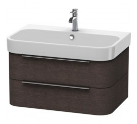 Duravit Happy D.2 Mobilier Vanity suspendat, brushed dark oak furnir, 78x48xH38 cm