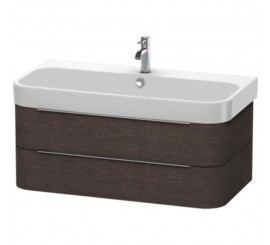 Duravit Happy D.2 Mobilier Vanity suspendat, brushed dark oak furnir, 98x48xH38 cm