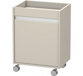 Duravit Ketho Corp pe role 50x36xH67 cm, deschidere stanga, crem Taupe