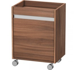 Duravit Ketho Corp pe role 50x36xH67 cm, deschidere stanga, maro Natural Walnut