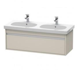 Duravit Ketho Mobilier Vanity suspendat 115x46xH41 cm, 1 sertar, pentru lavoar D-Code, crem Taupe