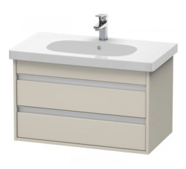 Duravit Ketho Mobilier Vanity suspendat 80x46xH48 cm, 2 sertare, pentru lavoar D-Code, crem Taupe