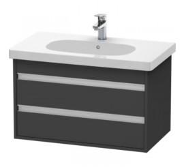 Duravit Ketho Mobilier Vanity suspendat 80x46xH48 cm, 2 sertare, pentru lavoar D-Code, gri Graphite Matt
