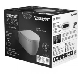 Duravit ME by Starck Set vas WC 37x57 cm si capac inclus