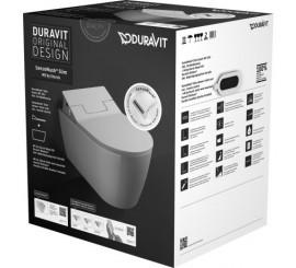 Duravit ME by Starck SensoWash Slim Set vas WC si capac cu functie de spalare si soft close, 37x57 cm