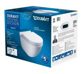 Duravit Stark 3 Set vas WC si capac cu soft close, fara rama