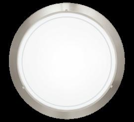 Eglo Planet Aplica 1x60W, Ø29 cm, alb/nichel