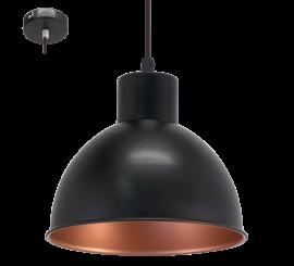 Eglo Truro 1 Pendul 1x60W, negru