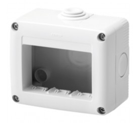 Gewiss 27 Combi Carcasa aparenta pentru 3 module, IP40, gri
