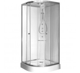 Glass Archimede Steam Cabina de dus semirotunda 90x90 cm