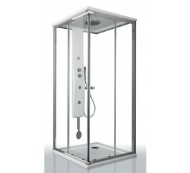 Glass Merlino Steam Cabina de dus patrata 90x90 cm