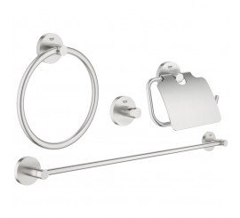 Grohe Essentials Set de accesorii 4 in 1, crom mat