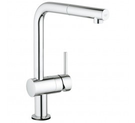 Grohe Minta Touch Baterie de bucatarie monocomanda electronica, cu dus extractibil, pipa in L, crom