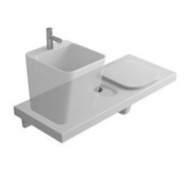 Hatria G-Full 120 Vas WC dreapta + lavoar 120x50 cm, alb