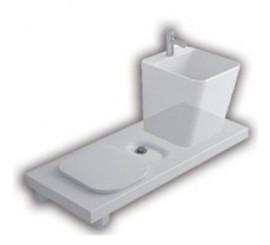 Hatria G-Full 120 Vas WC stanga + lavoar 120x50 cm, alb
