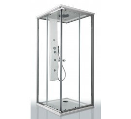 Glass Merlino Shower Cabina de dus patrata 90x90 cm