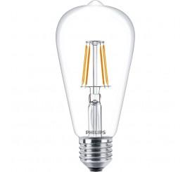 Philips Bec cu LED 4.3W, forma glob, filament retro, E27, lumina calda
