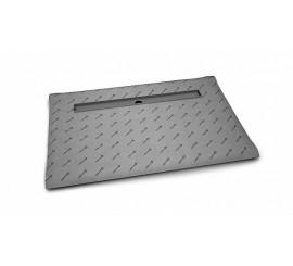 Radaway Sistem de scurgere faiantabil cu rigola pe lungime (placi 8-12 mm) 100x80 cm