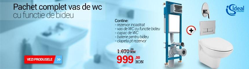 pachet rezervor si vas de wc functie de bideu ideal standard