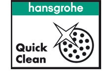 Perlatoarele QuickClean cu care sunt dotate bateriile dar si parele de dus sunt confectionate dintr-un silicon special antibacterian care se curata extrem de usor.