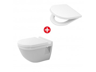 Duravit Starck 3 Set vas WC suspendat si capac soft close