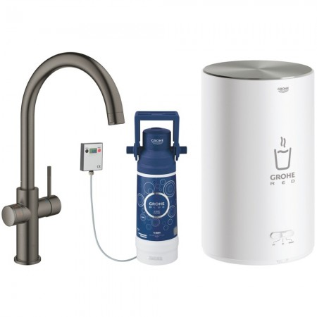 Grohe Red Duo Baterie de bucatarie cu pipa tip C si boiler, marime M, antracit mat (brushed hard graphite)