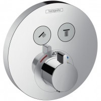 Hansgrohe ShowerSelect S Baterie dus termostatata pentru montaj incastrat, rotunda, crom