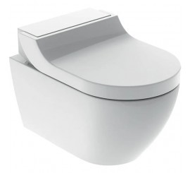 Geberit AquaClean Tuma Comfort Set vas WC rimless suspendat, capac soft-close electric cu functie de bideu, 36x55 cm