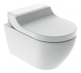 Geberit AquaClean Tuma Comfort Set vas WC Rimfree suspendat, capac soft-close electric cu functie de bideu, 36x55 cm