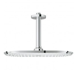 Grohe Rainshower Veris Dus fix cu brat, cu limitator de debit, montaj pe tavan, 30x15 cm