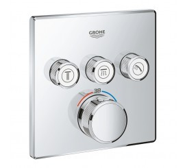 Grohe Grohtherm Smartcontrol Baterie dus termostatata cu 3 iesiri, patrata