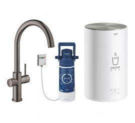 Grohe Red Duo Baterie de bucatarie cu pipa tip C si boiler, marime M, antracit (hard graphite)