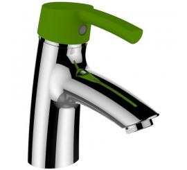 Laufen Florakids Baterie lavoar monocomanda cu maner verde