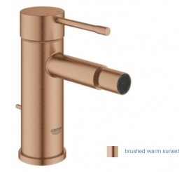 Grohe Essence Baterie bideu monocomanda S cu ventil pop-up, cupru mat (brushed warm sunset)