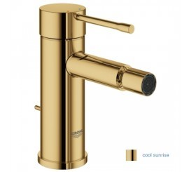 Grohe Essence Baterie bideu monocomanda S cu ventil pop-up, auriu (cool sunrise)
