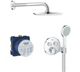 Grohe Grohtherm Cosmopolitan SmartControl Sistem de dus incastrat cu baterie rotunda termostatata