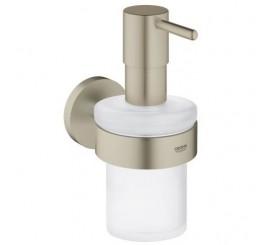 Grohe Essentials Dispenser sapun lichid cu suport, nickel mat