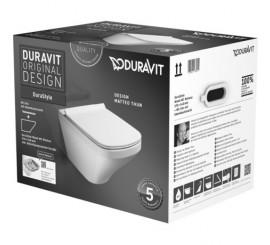 Duravit Durastyle Set vas WC suspendat fara rama cu capac soft close si prinderi ascunse