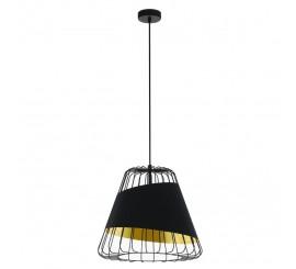 Eglo Austell Pendul 1x60W, Ø43 cm, negru